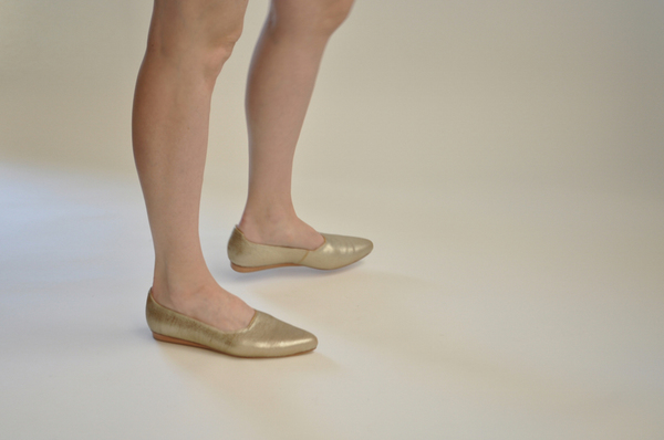 "The Palatines ""paratus"" high vamp wedge 