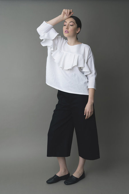 the general public ruffle top