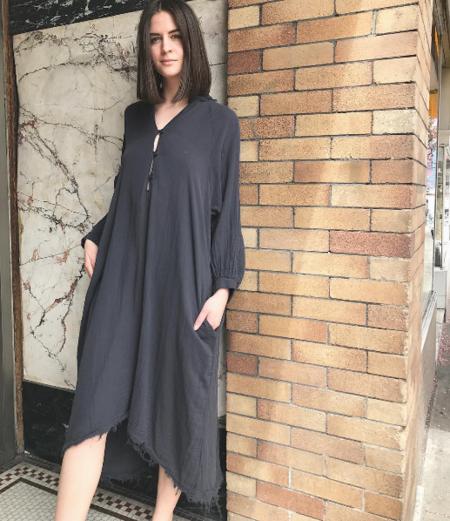 Black Crane Double Gauze Dress