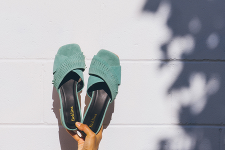 GARMENTORY EXCLUSIVE | Beklina Fringe Slide Jade