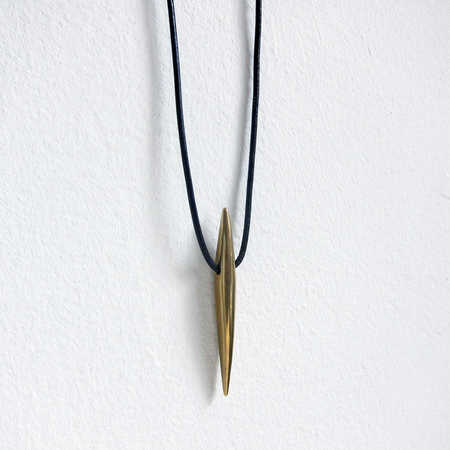 Marisa Mason Andromeda leather necklace - black