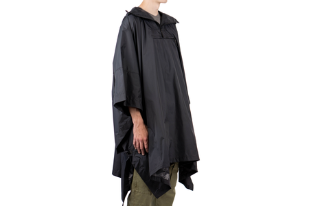 Norse Projects PACKABLE PONCHO - BLACK