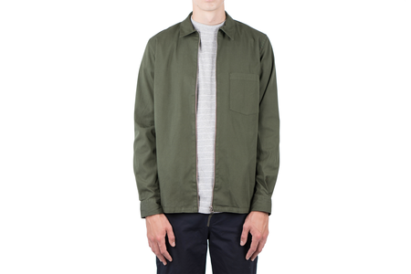 Norse Projects JENS GARMENT DYED TWILL - FOREST GREEN