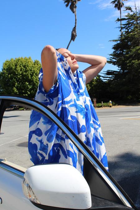 Heinui Cora Dress Blue Girls & Fish Print