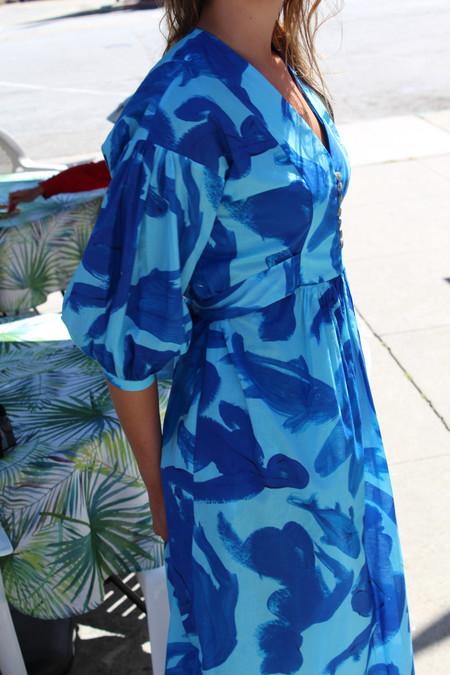 Heinui Edith Dress Aqua & Blue, Girls & Fish Print