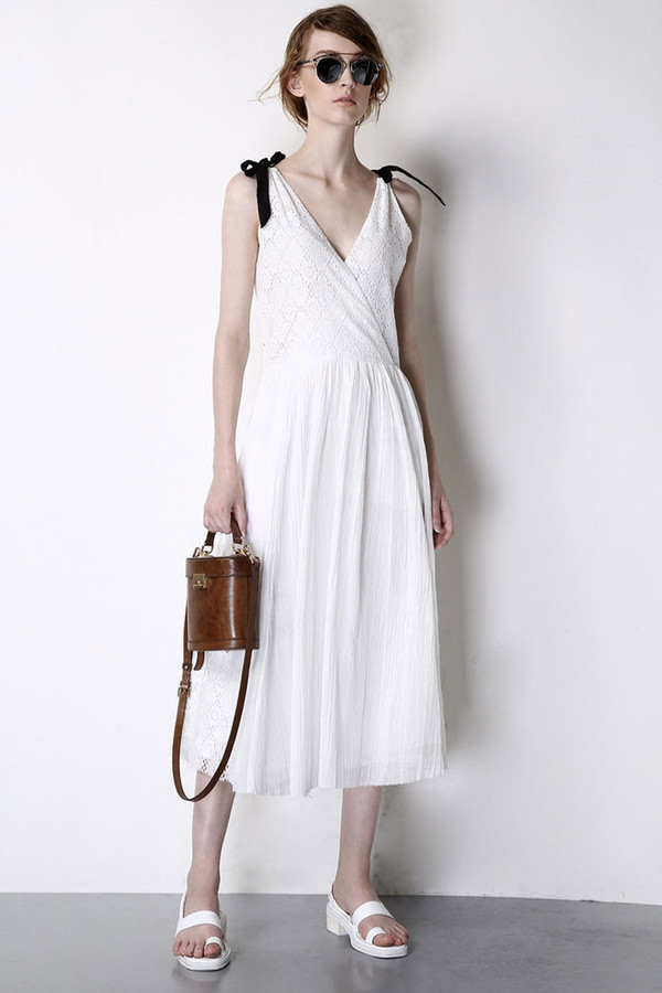 Few Moda Greek Goddess V-Neck Midi Dress