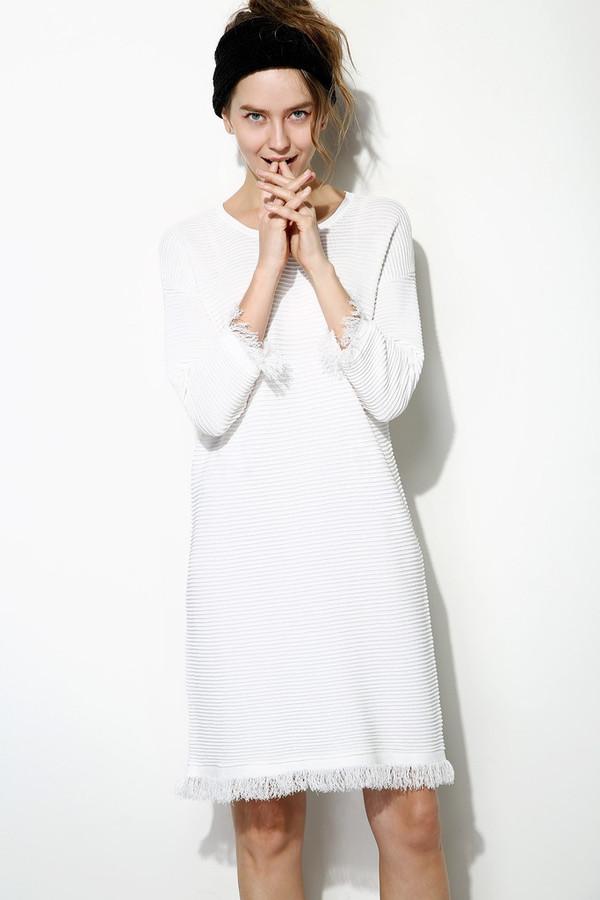 Few Moda Knitted Linen Fringe Dress