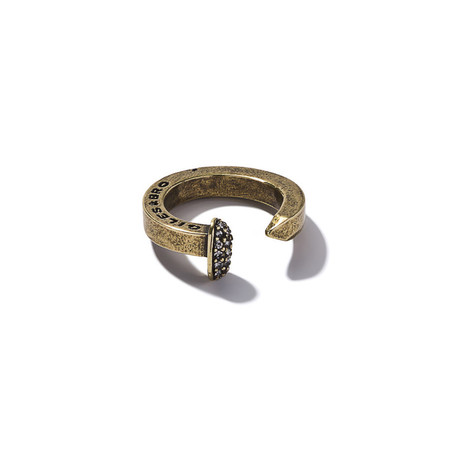 Giles & Brother Brass Ox Railroad Spike Ring