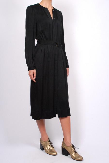 Raquel Allegra Belted Shirt Dress - Black