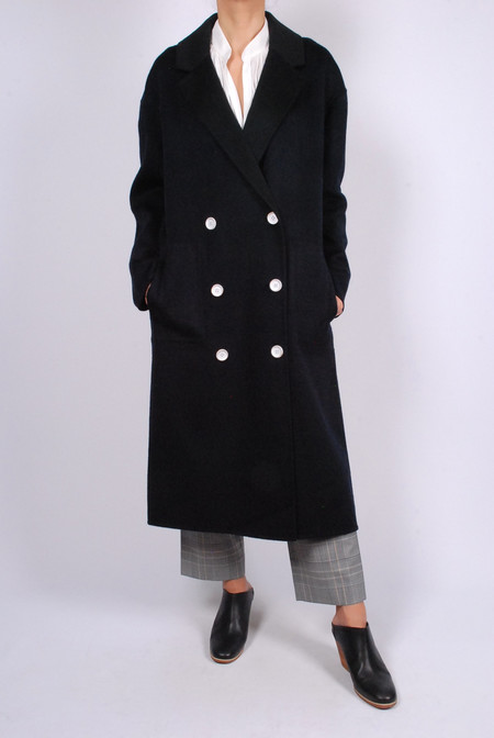 Tibi Double Faced Wool- Angora Oversized Coat