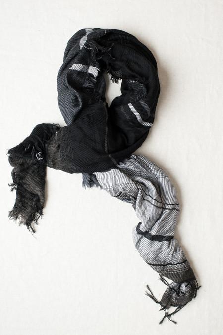 Tamaki Niime #20 Cotton/Wool Shawl In Black