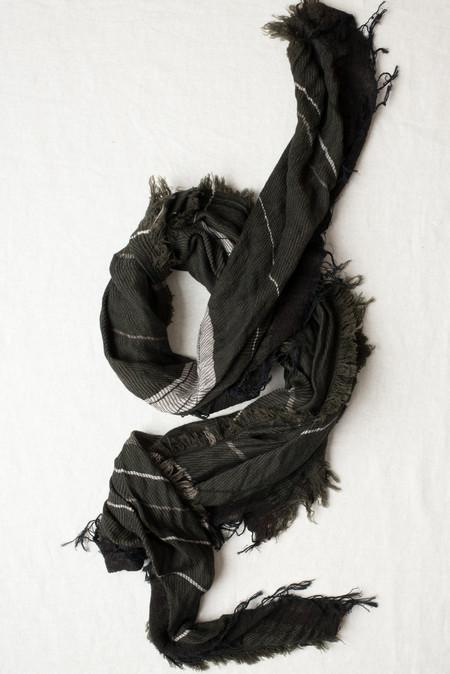 Tamaki Niime #9 Cotton/Wool Shawl In Olive