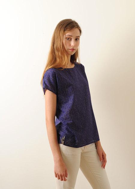 Conifer Woven Top - Violet Print