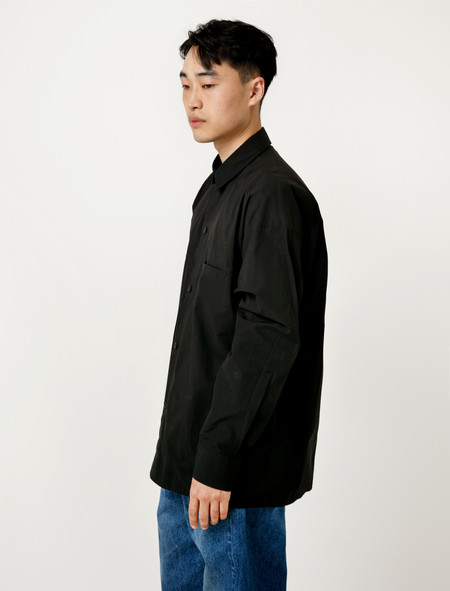 Hed Mayner Buttondown Bedsheet Shirt Black