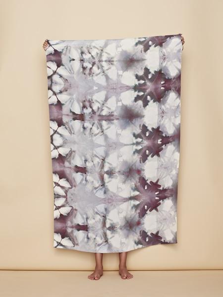 UPSTATE Raw Silk Sarong in Earth Itajime