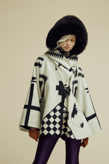 Lindsey Thornburg + Pendleton White Los Ojos Trench Cloak