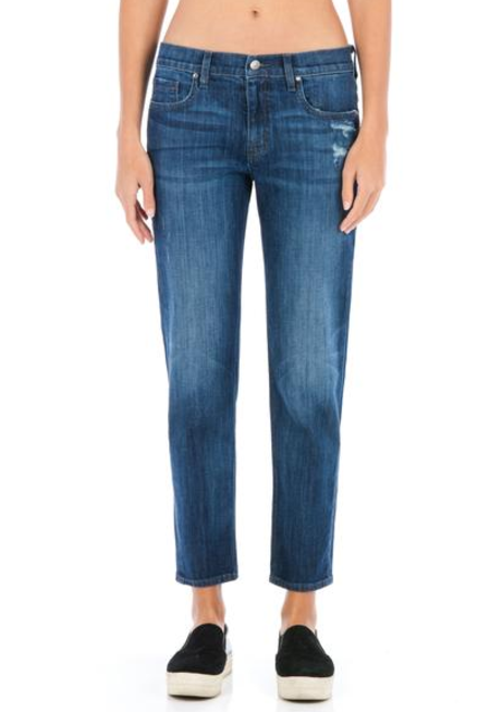 Fidelity Denim Axl Crop in Worker's Blue