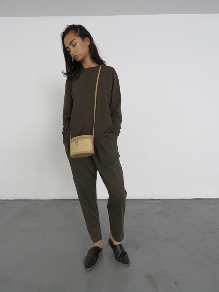 KOWTOW BUILDING BLOCK BOYFRIEND TOP - MOSS