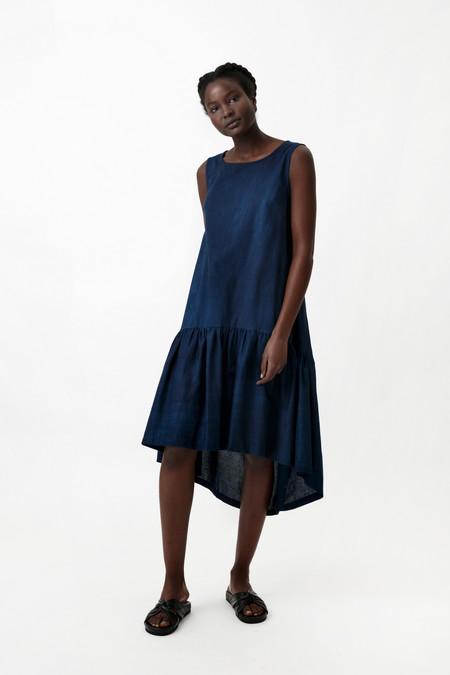 Osei-Duro Cascade Dress in Natural Indigo