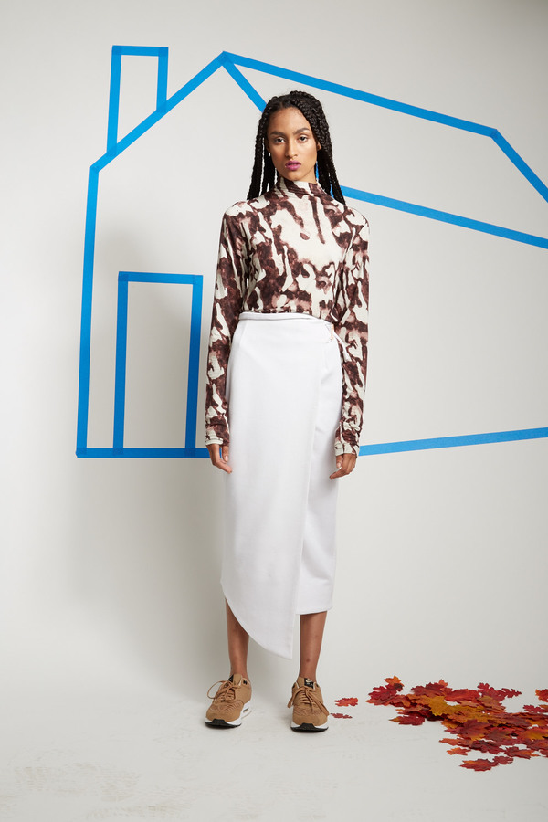 SCAPES NY Hand Bonded Adjustable Wrap Skirt