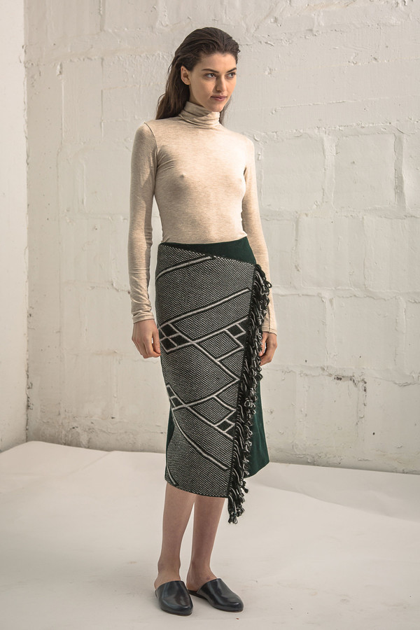 VOZ Pencil Wrap Skirt Che