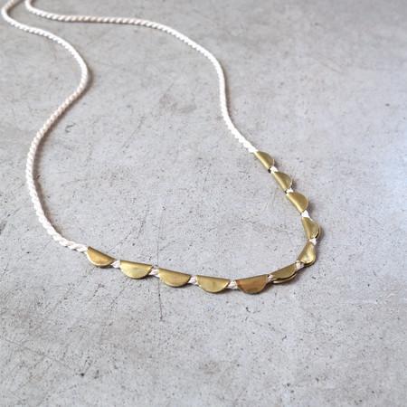 Takara Lunar Necklace in Ivory