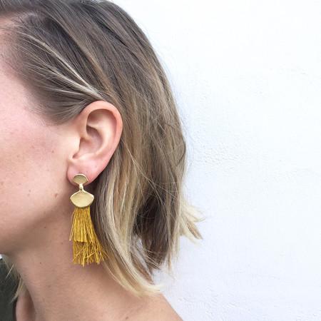 Takara Palma Earrings in Mustard