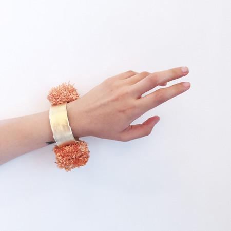 Takara Pom Pom Bracelet in Blush