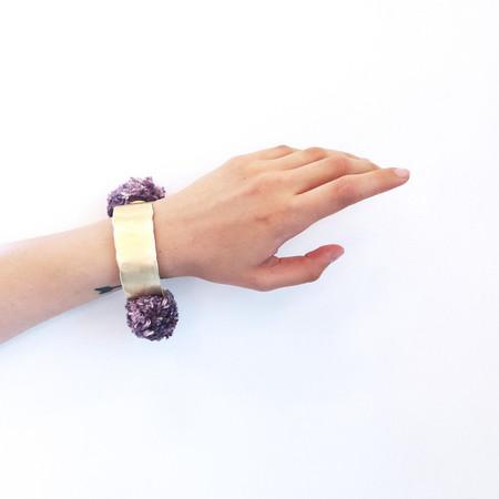 Takara Pom Pom Bracelet in Lavendar