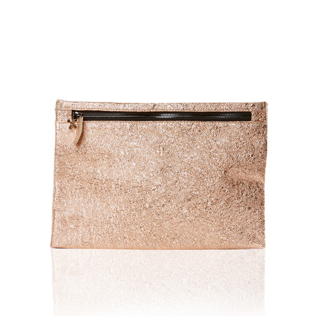 Marie Turnor The Slider Clutch - Peach Foil