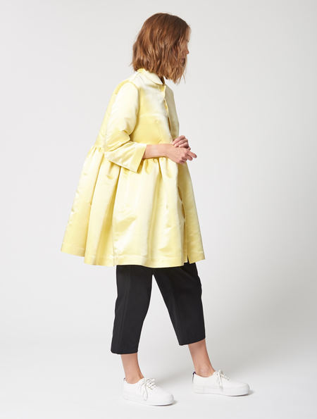 Peter Jensen Yellow Satin Diana Smock