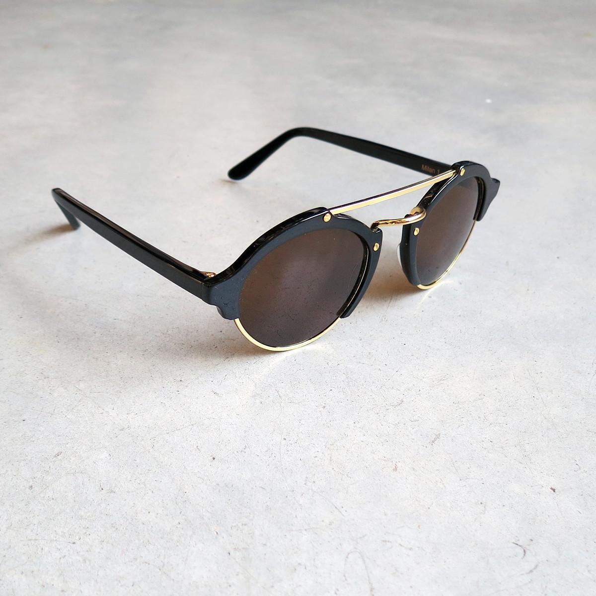 Illesteva Milan Sunglasses In Black With Brown Lens Garmentory