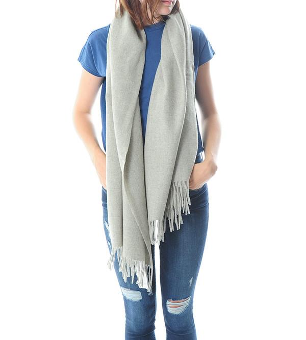 Won Hundred Grey Melange Caden Wool Scarf