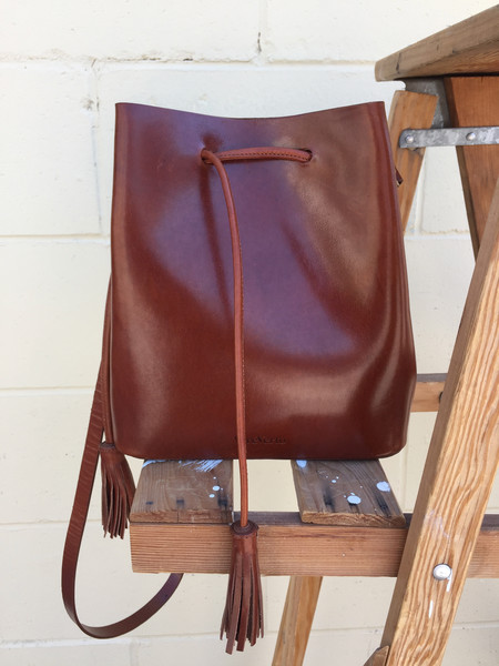 VereVerto Dita - Brown Bucket Handbag/Backpack