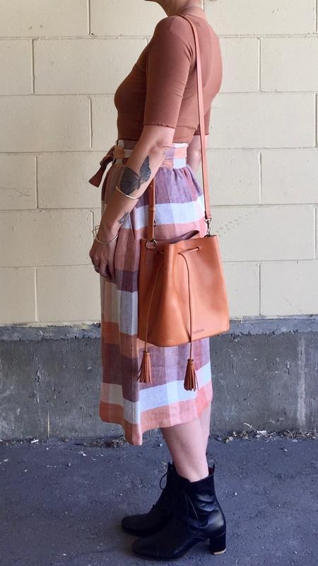 VereVerto Dita Bucket Handbag/Backpack - Honey