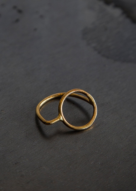 Aoko Su Axial Ring Gold