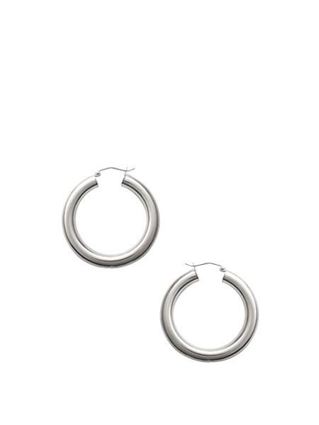 A-OL Tube Hoops - Silver