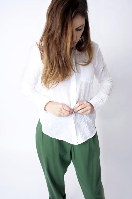 Steven Alan Reverse Seam Shirt - Textured White