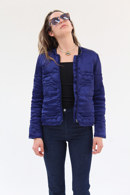 Rachel Comey Bedroom Jacket Midnight Waves