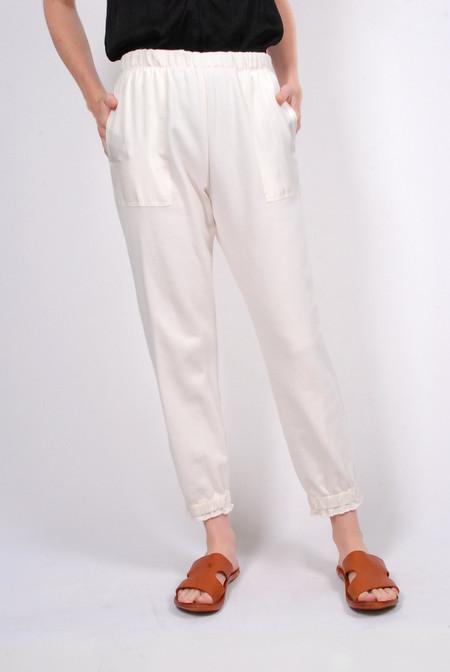 Raquel Allegra Silk Pocket Sweat pant - Ivory