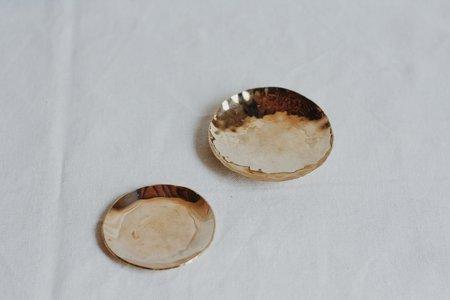 Christina Nicole Set of Brass Ring Dishes