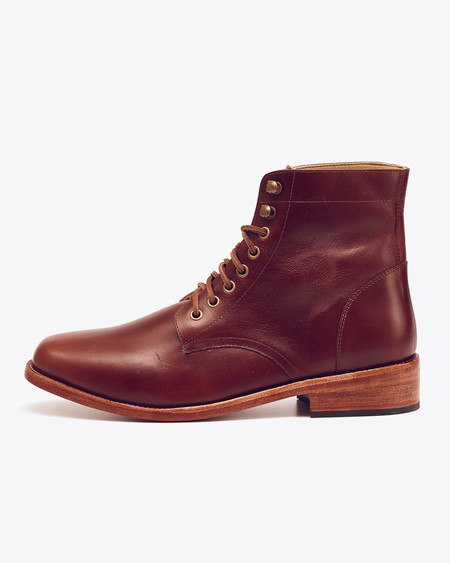 Nisolo Lockwood Trench Boot Brandy