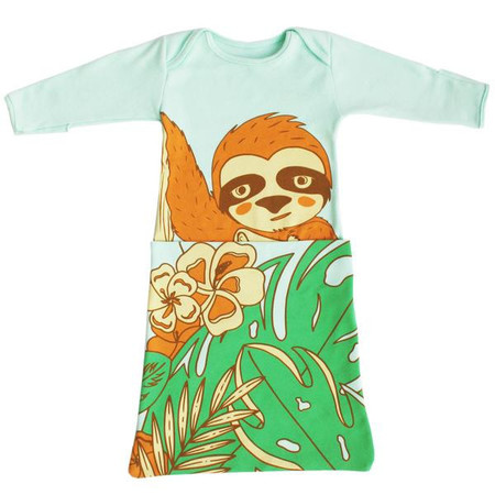 Kid's Electrik Kidz Sloth Pocket Gown