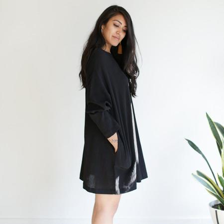 Sunja Link Long Sleeve Tunic - Black