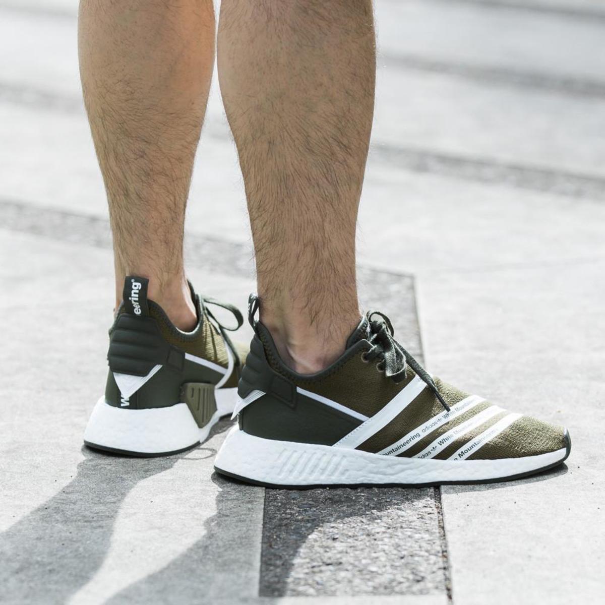 Adidas originali da white alpinismo nmd r2 primeknit / traccia