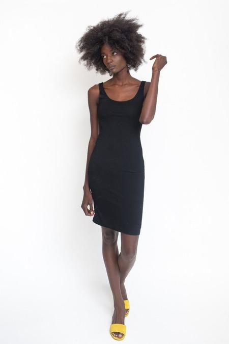 BLQ Basiq Fitted Midi Dress - Black