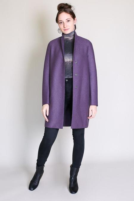 Harris Wharf London Cocoon coat in mauve