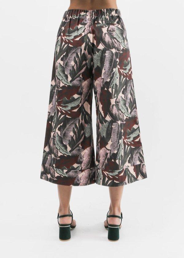 Svilu - Palm Print Cropped Wide Leg Pant