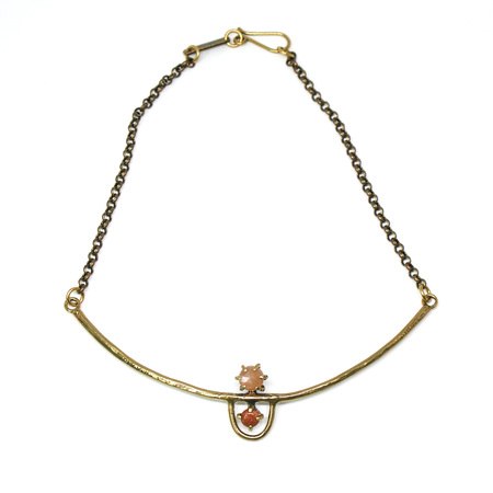 Laurel Hill Jewelry Arche Collar - Peach Moonstone & Goldstone