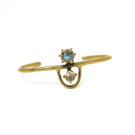 Laurel Hill Jewelry Arche Cuff - Labradorite & Rose Quartz